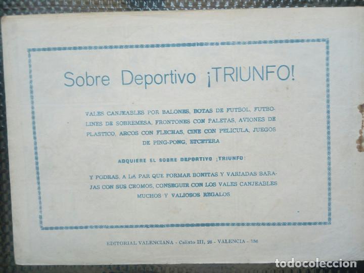 Tebeos: EL ESPADACHIN ENMASCARADO Nº 136 - ORIGINAL - EDT. VALENCIANA 1955 (M-5) - Foto 2 - 131821422