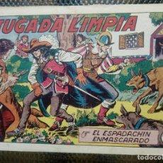 Tebeos: EL ESPADACHIN ENMASCARADO Nº 147 - ORIGINAL - EDT. VALENCIANA 1955 (M-5). Lote 131822626