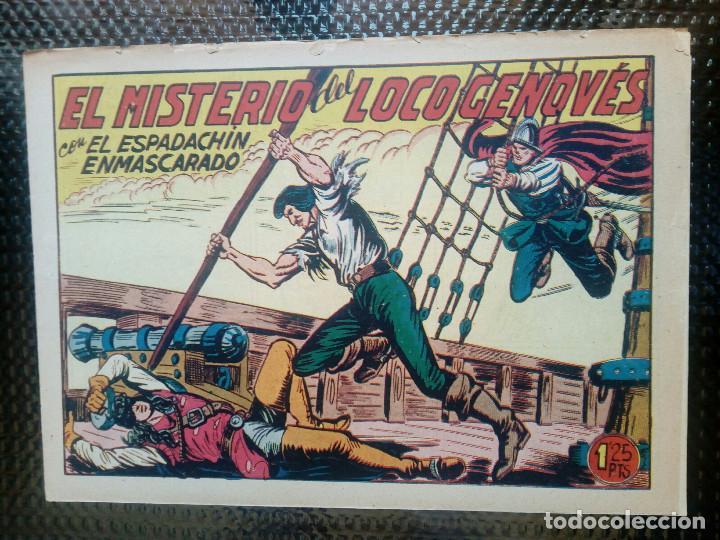 EL ESPADACHIN ENMASCARADO Nº 167 - ORIGINAL - EDT. VALENCIANA 1955 (M-5) (Tebeos y Comics - Valenciana - Espadachín Enmascarado)