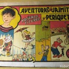 Tebeos: AVENTURAS DE JAIMITO Y PERIQUETE , HACIENDO TITERES . EDITORIAL VALENCIANA. Lote 132016610