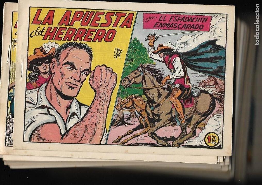 Tebeos: El Espadachin Enmascarado, Año 1952 Colección Completa son 252 + 2 Almanaques 1956 y 1957 Originales - Foto 17 - 131652022