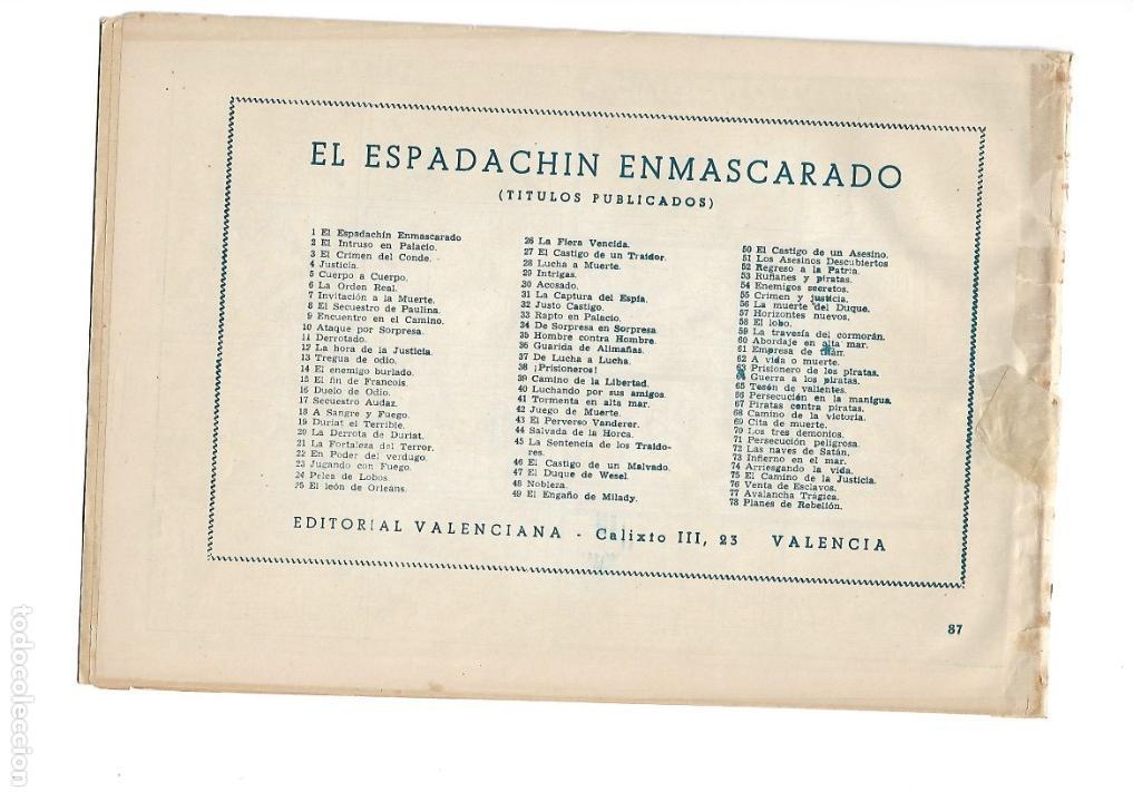 Tebeos: El Espadachin Enmascarado, Año 1952 Colección Completa son 252 + 2 Almanaques 1956 y 1957 Originales - Foto 3 - 131652022