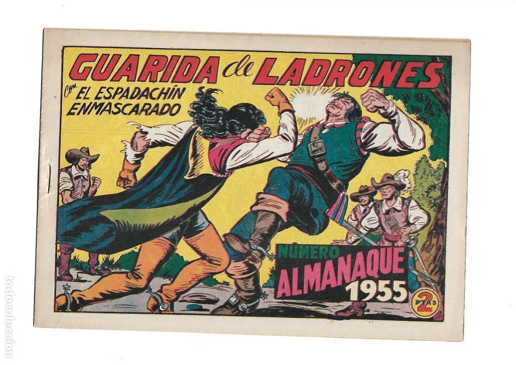 Tebeos: El Espadachin Enmascarado, Año 1952 Colección Completa son 252 + 2 Almanaques 1956 y 1957 Originales - Foto 4 - 131652022