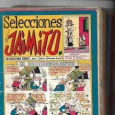 Tebeos: SELECCIONES DE JAMITO, AÑO 1.958. LOTE DE 67. TEBEOS ORIGINALES ESTA EL Nº 1 Y EL 191.. Lote 132080278