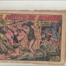 Tebeos: PURK EL HOMBRE DE PIEDRA-APAISADO-B/N-AÑO 1950-VALENCIANA-FORMATO GRAPA-Nº 191-EL PUESTO DE HONOR. Lote 133041090