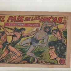 Tebeos: PURK EL HOMBRE DE PIEDRA-APAISADO-B/N-AÑO 1950-VALENCIANA-FORMATO GRAPA-Nº 154-EL PAIS DE LOS IRCAS. Lote 133047038