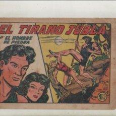 Tebeos: PURK EL HOMBRE DE PIEDRA-APAISADO-B/N-AÑO 1950-VALENCIANA-FORMATO GRAPA-Nº 153-EL TIRANO JUBLA. Lote 133047286