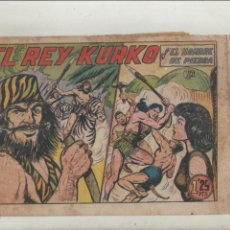 Tebeos: PURK EL HOMBRE DE PIEDRA-APAISADO-B/N-AÑO 1950-VALENCIANA-FORMATO GRAPA-Nº 90-EL REY KURKO. Lote 133048518