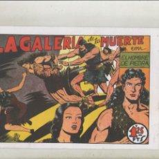 Tebeos: PURK EL HOMBRE DE PIEDRA-FASCIMIL-B/N-REEDICION-AÑO 1950-VALENCIANA-Nº 8-LA GALERIA DE LA MUERTE. Lote 133048938