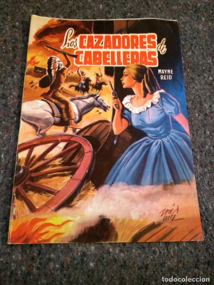 LOS CAZADORES DE CABELLERAS, SELECCIÓN DE AVENTURAS ILUSTRADAS, AÑO 1959 - (Tebeos y Comics - Valenciana - Selección Aventurera)