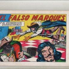 Tebeos: EL ESPADACHIN ENMASCARADO-AÑO 1981-B/N-VALENCIANA-FACSÍMIL-SEGUNDA EDICION-Nº 50-EL FALSO MARQUES. Lote 133093754