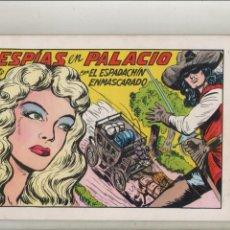 Tebeos: EL ESPADACHIN ENMASCARADO-AÑO 1981-B/N-VALENCIANA-FACSÍMIL-SEGUNDA EDICION-Nº 46-ESPIAS EN PALACIO. Lote 133096258