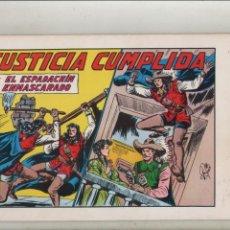 Tebeos: EL ESPADACHIN ENMASCARADO-AÑO 1981-B/N-VALENCIANA-FACSÍMIL-2º EDICION-APAISADO-REEDICION-Nº 44. Lote 133096678