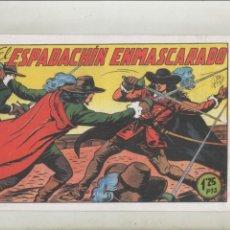 Tebeos: EL ESPADACHÍN ENMASCARADO-AÑO 1952-B/N-VALENCIANA-FACSIMIL-REEDICION-APAISADO-Nº 1. Lote 133098778