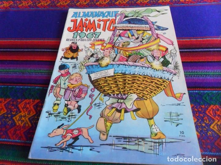 Tebeos: COLOSOS DEL COMIC CON JAIMITO. Nº EXTRAORDINARIO. EDITORIAL VALENCIANA 1975. REGALO ALMANAQUE 1967. - Foto 2 - 13089250