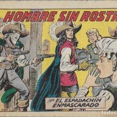 Tebeos: ESPADACHÍN ENMASCARADO, EL Nº 232. EL HOMBRE SIN ROSTRO. M. GAGO. ED. VALENCIANA, ORIGINAL 1957. Lote 133698518