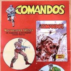 Tebeos: POSTER PUBLICITARIO COMANDOS TEBEOS VALENCIANA 1982. Lote 134783089