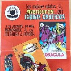 Tebeos: POSTER PUBLICITARIO LIBROS GRÁFICOS TEBEOS VALENCIANA. Lote 134784102