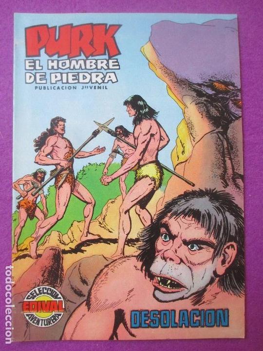 TEBEO PURK EL HOMBRE DE PIEDRA, Nº 34, DESOLACION, VALENCIANA, (Tebeos y Comics - Valenciana - Purk, el Hombre de Piedra)