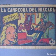 Tebeos: PANDILLA DE LOS SIETE, LA (1945, VALENCIANA) -EL PEQUEÑO ENMASCARADO- 80 · 1945 · LA CAMPEONA DEL NI. Lote 135723351