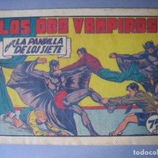 Tebeos: PANDILLA DE LOS SIETE, LA (1945, VALENCIANA) -EL PEQUEÑO ENMASCARADO- 76 · 1945 · LOS DOS VAMPIROS. Lote 135723799