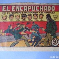 Tebeos: PANDILLA DE LOS SIETE, LA (1945, VALENCIANA) -EL PEQUEÑO ENMASCARADO- 11 · 1945 · EL ENCAPUCHADO. Lote 135743750
