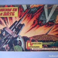 Tebeos: COMANDOS (1957, VALENCIANA) 18 · 7-XI-1957 · TRAICIÓN EN LA BASE. Lote 135745790