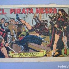 Tebeos: GUERRERO DEL ANTIFAZ, EL (1943, VALENCIANA) 66 · 27-XII-1947 · EL PIRATA NEGRO. Lote 136322022