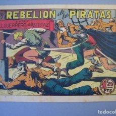 Tebeos: GUERRERO DEL ANTIFAZ, EL (1943, VALENCIANA) 87 · 16-X-1948 · LA REBELIÓN DE LOS PIRATAS. Lote 136322122