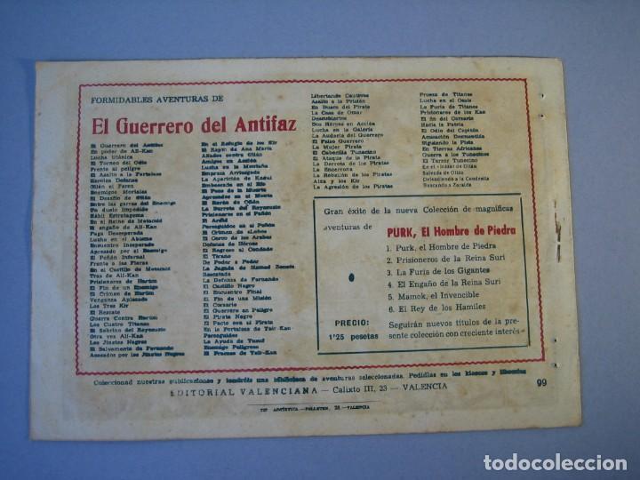 Tebeos: GUERRERO DEL ANTIFAZ, EL (1943, VALENCIANA) 99 · 2-IV-1949 · EN TIERRAS AFRICANAS - Foto 2 - 136357158
