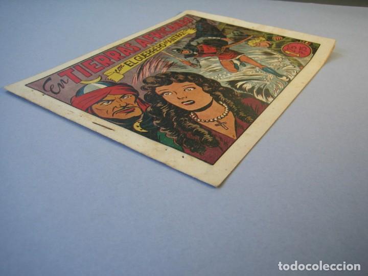 Tebeos: GUERRERO DEL ANTIFAZ, EL (1943, VALENCIANA) 99 · 2-IV-1949 · EN TIERRAS AFRICANAS - Foto 3 - 136357158