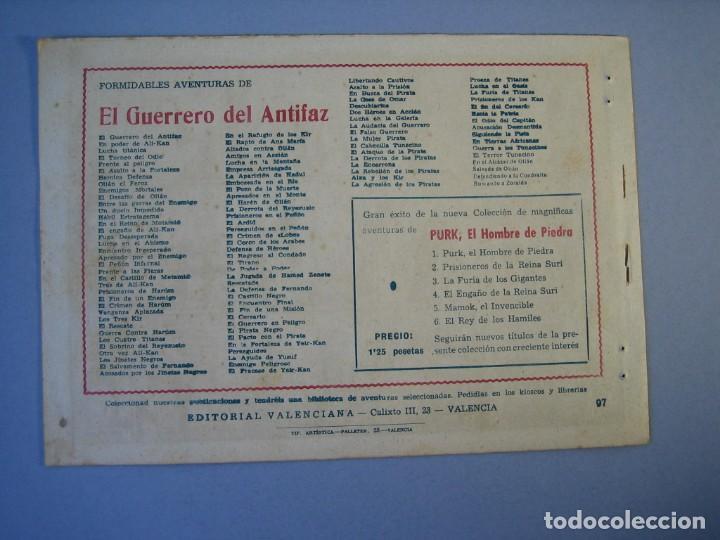 Tebeos: GUERRERO DEL ANTIFAZ, EL (1943, VALENCIANA) 97 · 5-III-1949 · ACUSACIÓN DESMENTIDA - Foto 2 - 136357842