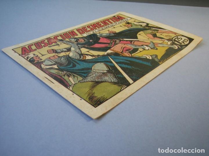 Tebeos: GUERRERO DEL ANTIFAZ, EL (1943, VALENCIANA) 97 · 5-III-1949 · ACUSACIÓN DESMENTIDA - Foto 3 - 136357842