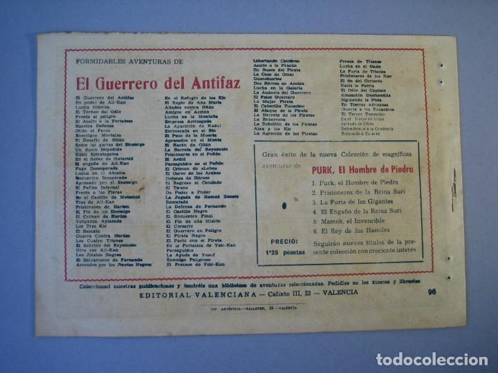 Tebeos: GUERRERO DEL ANTIFAZ, EL (1943, VALENCIANA) 96 · 19-II-1949 · EL ODIO DEL CAPITÁN - Foto 2 - 136371242