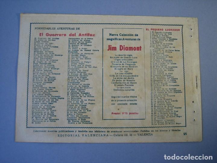 Tebeos: GUERRERO DEL ANTIFAZ, EL (1943, VALENCIANA) 95 · 5-II-1949 · HACIA LA PATRIA - Foto 2 - 136371458