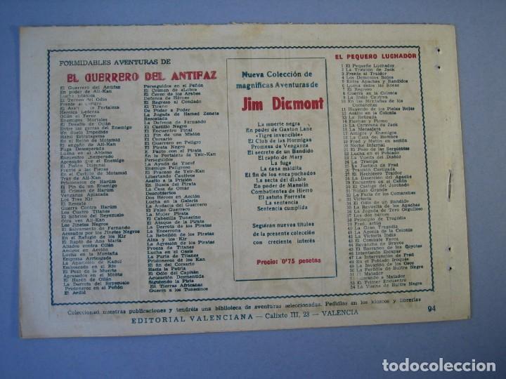 Tebeos: GUERRERO DEL ANTIFAZ, EL (1943, VALENCIANA) 94 · 22-I-1949 · EL FIN DEL CORSARIO - Foto 2 - 136371590