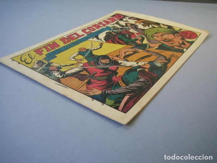 Tebeos: GUERRERO DEL ANTIFAZ, EL (1943, VALENCIANA) 94 · 22-I-1949 · EL FIN DEL CORSARIO - Foto 3 - 136371590