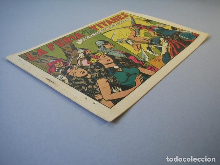 Tebeos: GUERRERO DEL ANTIFAZ, EL (1943, VALENCIANA) 92 · 25-XII-1948 · LA FURIA DE LOS TITANES - Foto 3 - 136372038