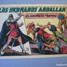 Tebeos: GUERRERO DEL ANTIFAZ, EL (1943, VALENCIANA) 114 · 29-X-1949 · LOS HERMANOS ABDALLAH. Lote 136400750