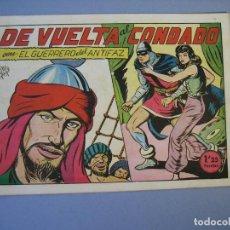 Tebeos: GUERRERO DEL ANTIFAZ, EL (1943, VALENCIANA) 132 · 8-VII-1950 · DE VUELTA AL CONDADO. Lote 136407762