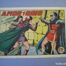 Tebeos: GUERRERO DEL ANTIFAZ, EL (1943, VALENCIANA) 141 · 11-XI-1950 · AMOR Y ODIO. Lote 136410742