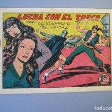 Tebeos: GUERRERO DEL ANTIFAZ, EL (1943, VALENCIANA) 139 · 14-X-1950 · LUCHA CON EL TURCO. Lote 136411106