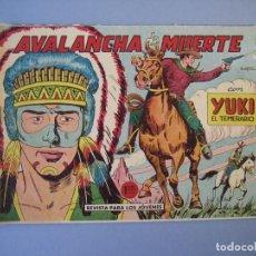 Tebeos: YUKI EL TEMERARIO (1958, VALENCIANA) 22 · 25-VII-1959 · AVALANCHA DE MUERTE. Lote 136427830