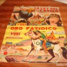Tebeos: YUKI EL TEMERARIO ORIGINALES NºS 3 Y 21. EDITORIAL VALENCIANA 1958.. Lote 136485034
