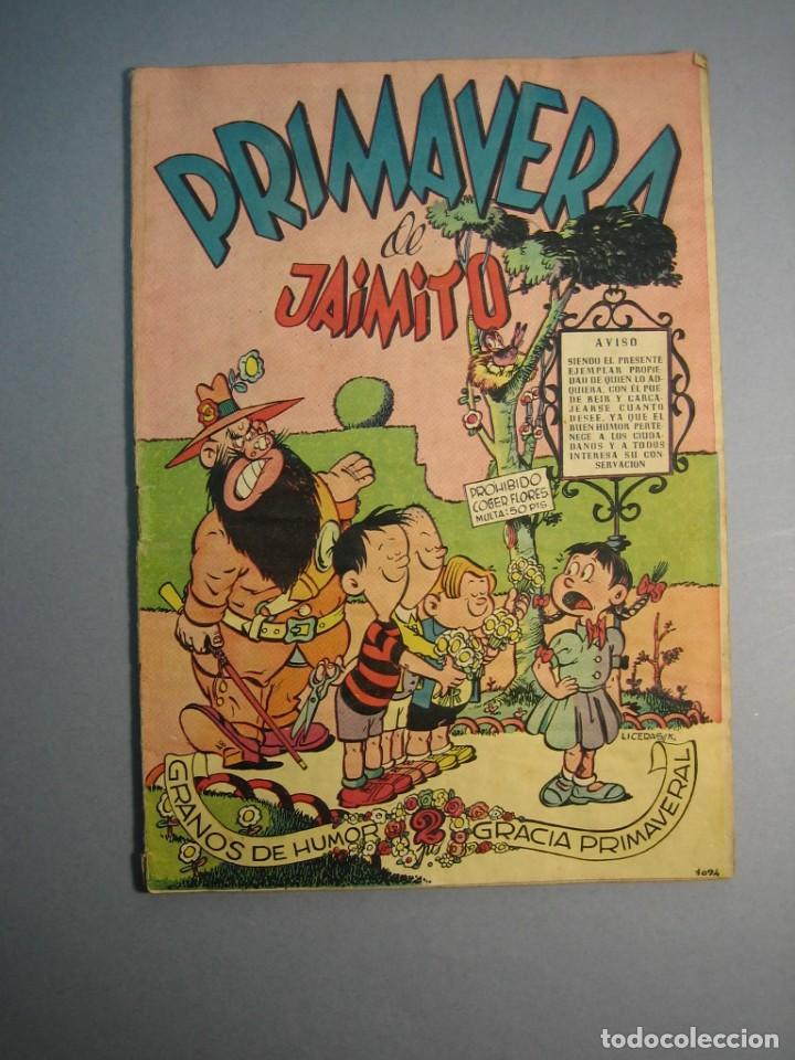 JAIMITO (1945, VALENCIANA) EXTRA 8 · 1950 · PRIMAVERA DE JAIMITO (Tebeos y Comics - Valenciana - Jaimito)