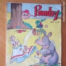 Tebeos: PUMBY Nº 42- ORIGINAL- 1956- DIFICILISIMO. Lote 137195070