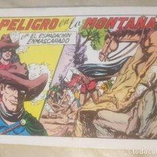 Tebeos: ESPADACHÍN ENMASCARADO / PELIGRO EN LA MONTAÑA. Nº 60 / 2ª EDICION. 1982.. Lote 137914726