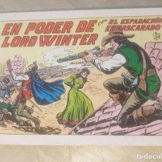 Tebeos: ESPADACHÍN ENMASCARADO / EL PODER DE LORD WINTER. Nº 67 / 2ª EDICION. AÑOS 80.. Lote 137915102