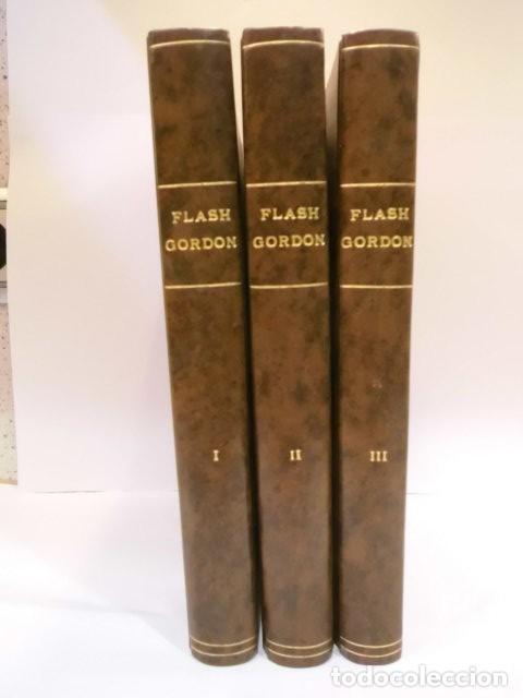 FLASH GORDON - COMPLETA - ED. VALENCIANA - 38 COMICS EN 3 TOMOS SIMIL PIEL (Tebeos y Comics - Valenciana - Otros)