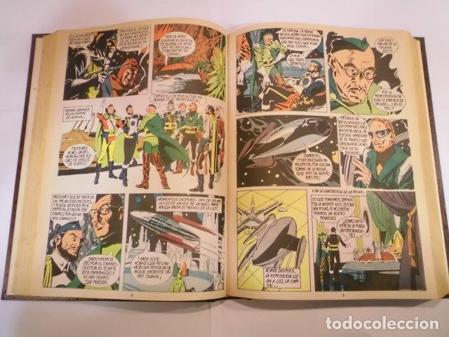 Tebeos: FLASH GORDON - COMPLETA - ED. VALENCIANA - 38 COMICS EN 3 TOMOS SIMIL PIEL - Foto 4 - 139660718